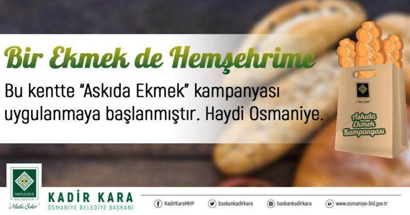 'Askıda Ekmek' kampanyasına şehrimizde destekler devam ediyor.