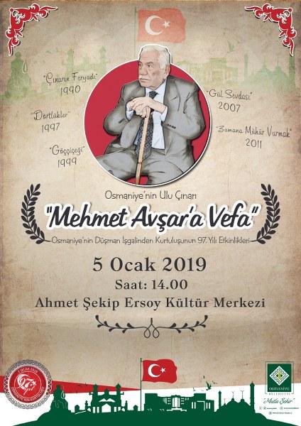 """""""MEHMET AVŞAR'A VEFA"""" PROGRAMI"""