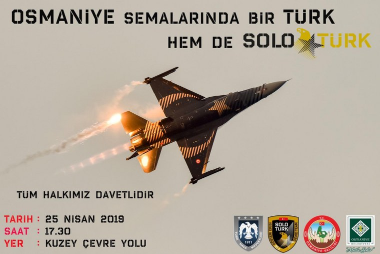 SOLO TÜRK 25 NİSAN'DA OSMANİYE'DE