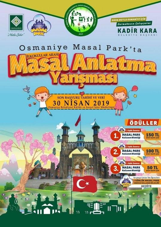 OSMANİYE MASAL PARK'TA MASAL ANLATMA YARIŞMASI