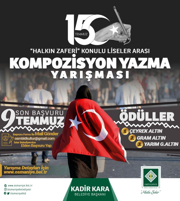 LİSELER ARASI KOMPOZİSYON YAZMA YARIŞMASI
